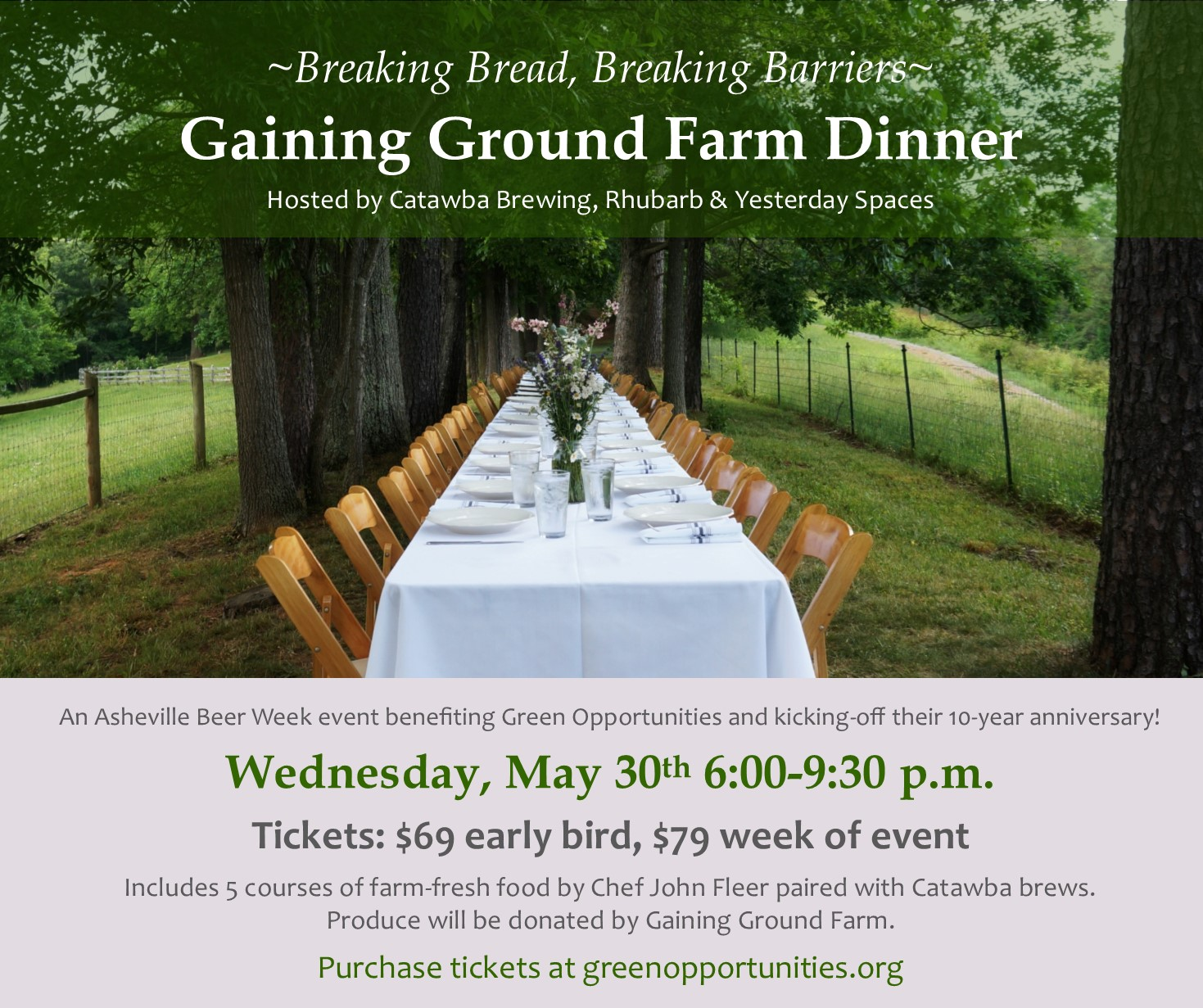 gaining ground farm dinner asheville beer week gaining ground joan barfoot gaining ground
